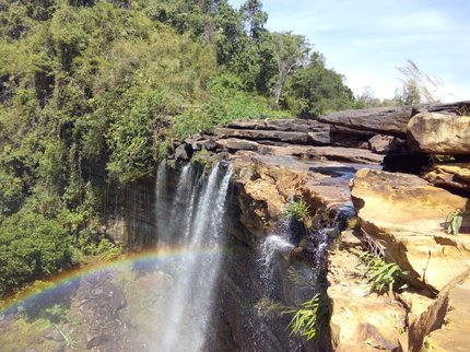 Waterfall near OsoamCCC with a rainbow